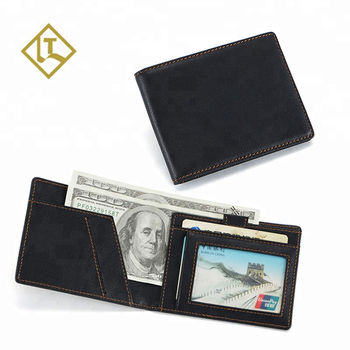 2019 custom slim minimalist purses RFID blocking smart money clip card wallet mens genuine leather wallet