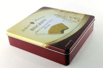 2017 Dongguan Exquisite Metal Big Biscuit Cookie Packing Tin Box