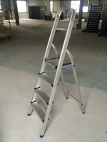 4 steps household aluminium folding ladders