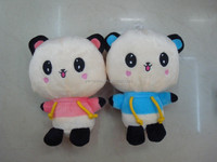 Stuffed soft 20cm white and black panda plush / wholesale stuffed animal toys for vending machine