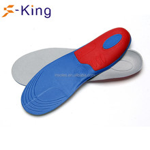 Red plastic insole to reduce the size of shoes cut to size shoe insole