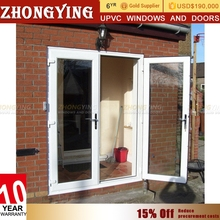Double Leaf Shop Front Unbreakable Exterior Fire Rated Glass Door