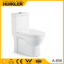 HUIKLER A-856 water saving bathroom ceramic siphonic one piece toilet, arabic ceramic classic design toilet bowl