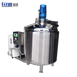 Cheap Price 1000 Liter Sanitary 304 Stainless Steel Dairy Milk Cooling Storage Tank With Direct Expansion Refrigeration