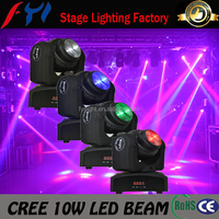 Home and garden new product 2015 Double Face 10W Mini Moving Head Led Beam christmas stage lighting