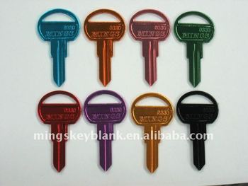 colour key blank, key blank, blank keys, key, door key blank, locksmith accessories
