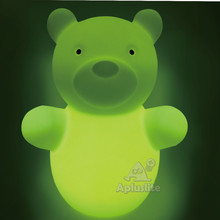 Green Rechargeable Battery Operated Decor Bear Shape LED Table Lamp