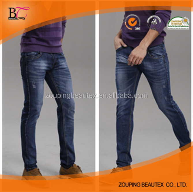 2016 the new straight denim jeans stock lot model of elastic jeans with bangkok jeans made in china