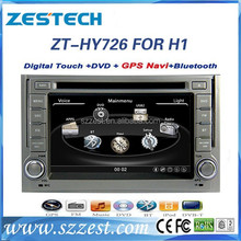 ZESTECH Dashboard Placement and Bluetooth,GPS,MP3 / MP4 ,Radio Tuner,Touch Screen,TV Combination car gps dvd for Hyundai H1