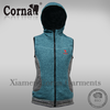 Promotional low price custoized label windproof fashion knitted fur vest with great price