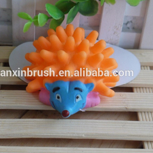 Factory direct high quality nontoxic Hedgehog rubber dog toy wholesale squeal rubber pet toy