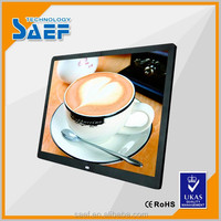 15 inch 1024*768 wall mount advertising support use sd card video player