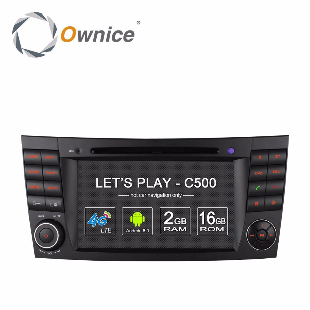 Ownice factory price Quad core Android 6.0 multifunction car DVD for Mercedes Benz E200 with RDS support DSP dvr TV