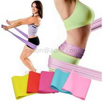 Yoga Pilates Latex Stretch Bands and Mini loop bands Custom Resistance Exercise Band