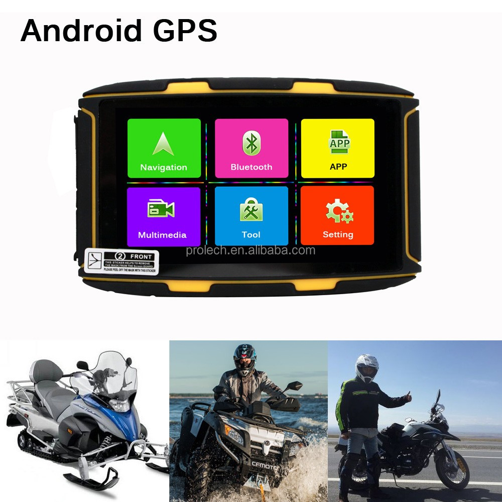 Android 4.4.2 Motorcycle GPS Navigator FM Transmitter Bluetooth Wifi Receiver