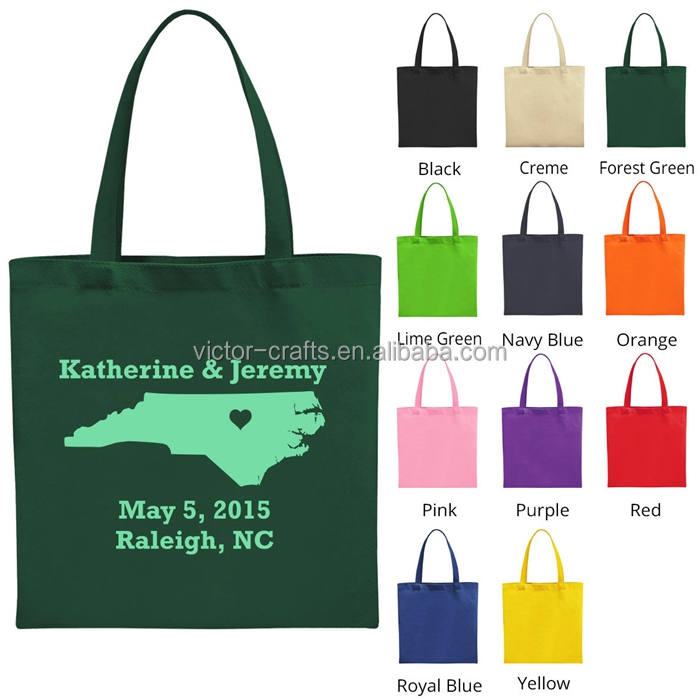 Green color handle canvas tote cotton canvas laundry bag