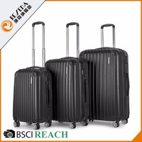 Large Supply code lock ABS lightest with wheels funky cabin trolley handle spare parts for luggage bag