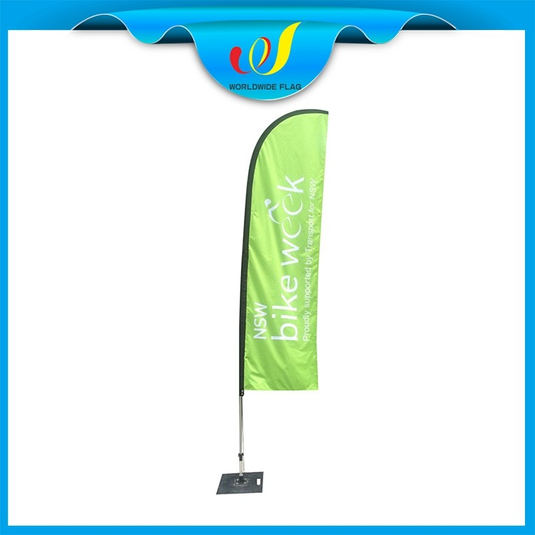 China Feather Promotion Trade Show Novelty X-foot Square Beach Flag