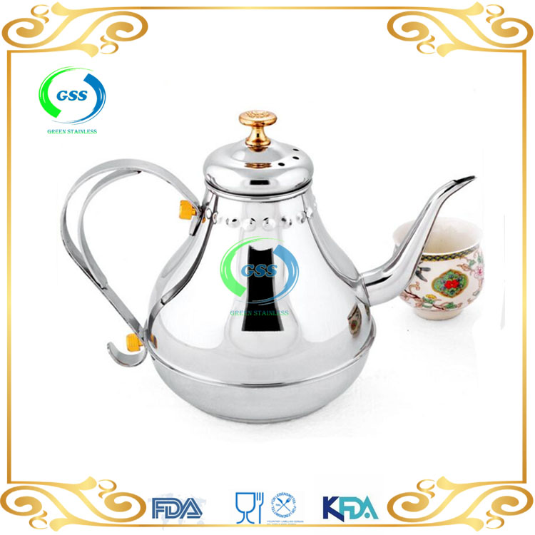 High Quality Wholesale Good useful stainless steel teapot arabic teapot,arabic coffee pot with handle