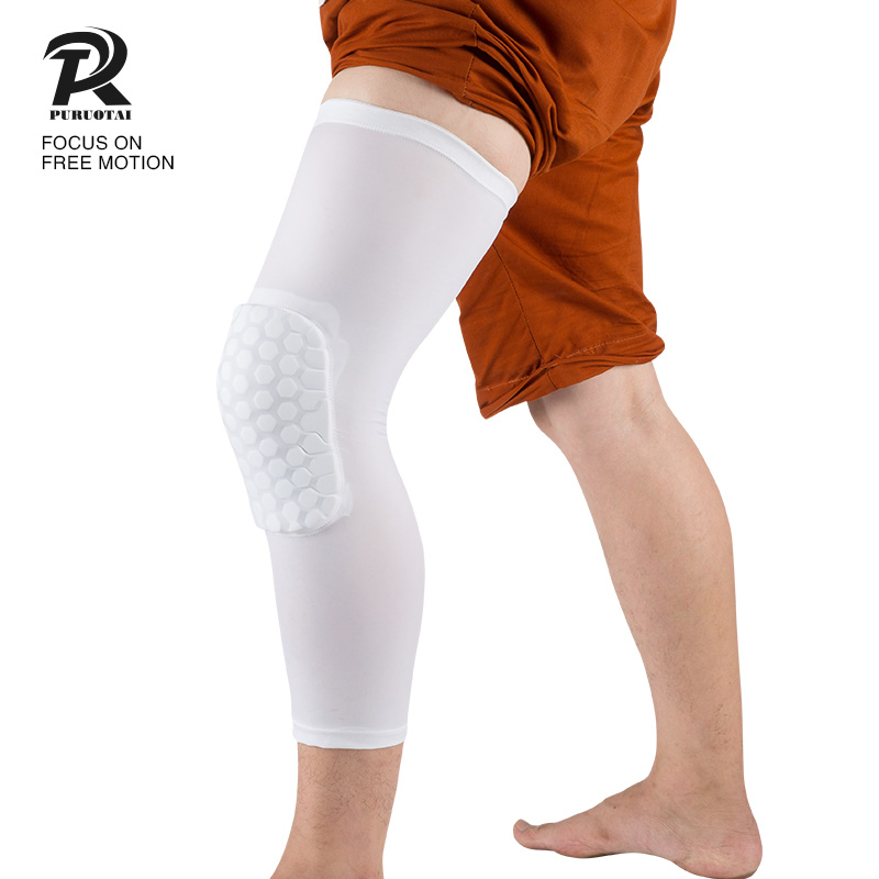 Athletes professional knee compression sleeve pads support