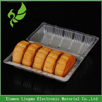 Hot sale disposable plastic Clear PET cake /moon cake box/container
