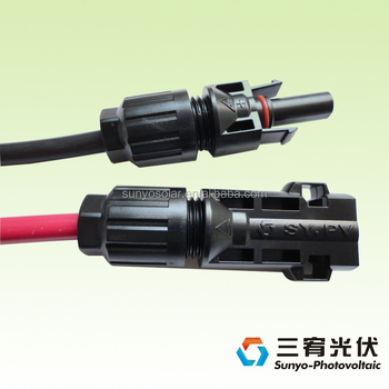 TUV certificate Single Core Cable2.5mm 4.0mm 6mm 10mm solar pv cable with MC4 connector