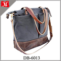 Factory wholesale custom Baby diaper bag leather canvas mommy tote bag