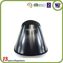 Black cheap UV protection PVC Plastic caps Long Brim Sun Visor hats