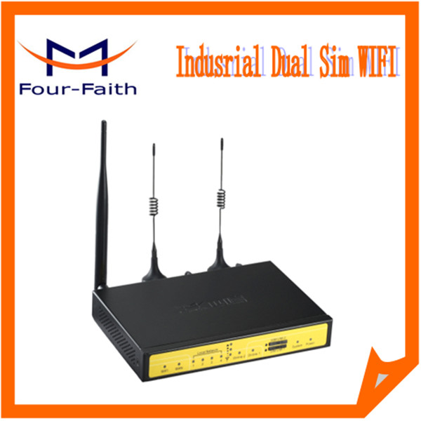 3G Dual Sim Card Bandwidth Bonding Router For ATM,POS,Video Surveillance