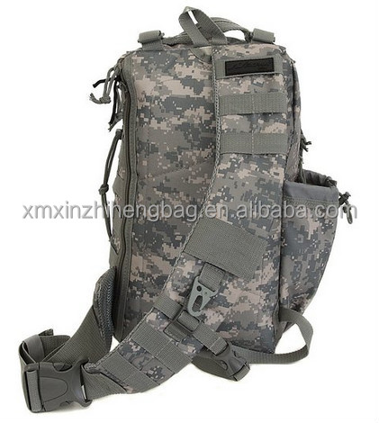 XIAMEN Mens Tactical Gear Hydration Ready Sling Shoulder tactical backpack
