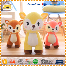 Free Sample L1 hot sale good quality sika deer baby plush toys for kids and adults ,wedding gifts,Christmas gift