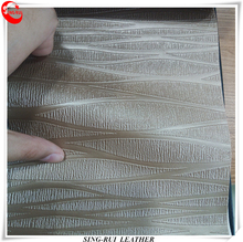 Brush Backing Embossed Surface PVC Materials Leather