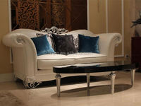 Luxury silver living room sofa best quality italy leather sofa
