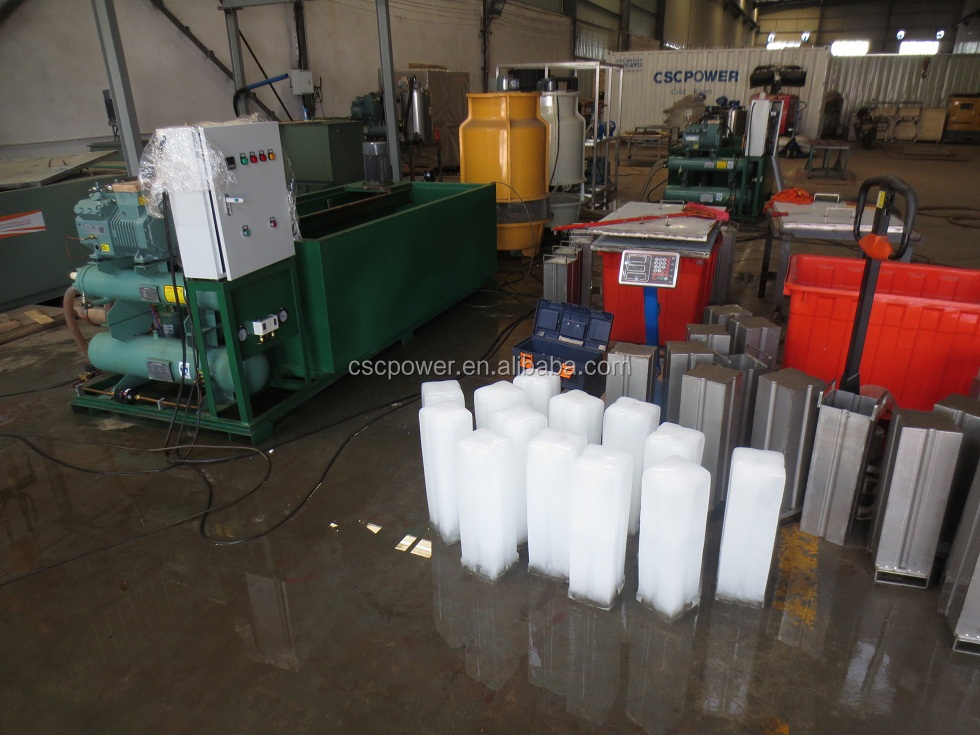 1ton/day ice blocl machine mobile type selling block ice