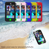 Wholesale China cheap second generation button function underwater 8 meters shockproof water proof case cover for iPhone 4/4S
