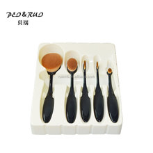 Soft Synthetic Hair Makeup Brushes Professional 5pcs Makeup Brush Set Beautiful 5pcs Oval Cosmetic Brushes