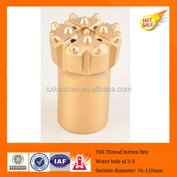 T45 Thread button drill bits for diesel air compressor