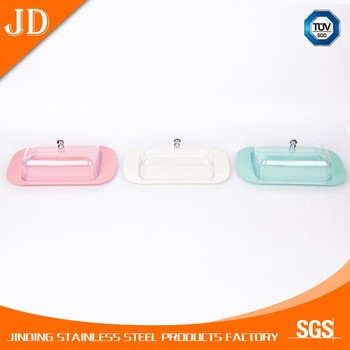 High quality Plastic Butter Dish with Lid