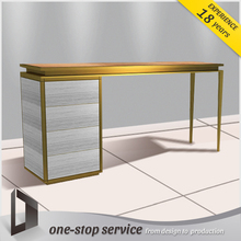 jewelry display counter golden color metal display furnitures jewelry drawer cabinet