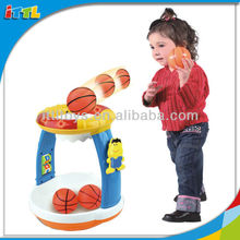 34383 B/O Musical Toy Game Baby Basketball Toy Game