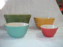 "4"" colorful customized ceramic soup bowl"