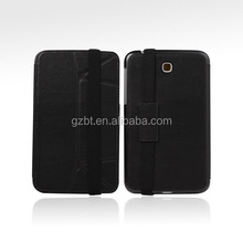 Accessory shock proof folio protective cover with strap for galaxy tab 3 7.0 tablet