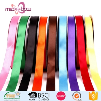 China wholesale different size polyester tape ribbon satin