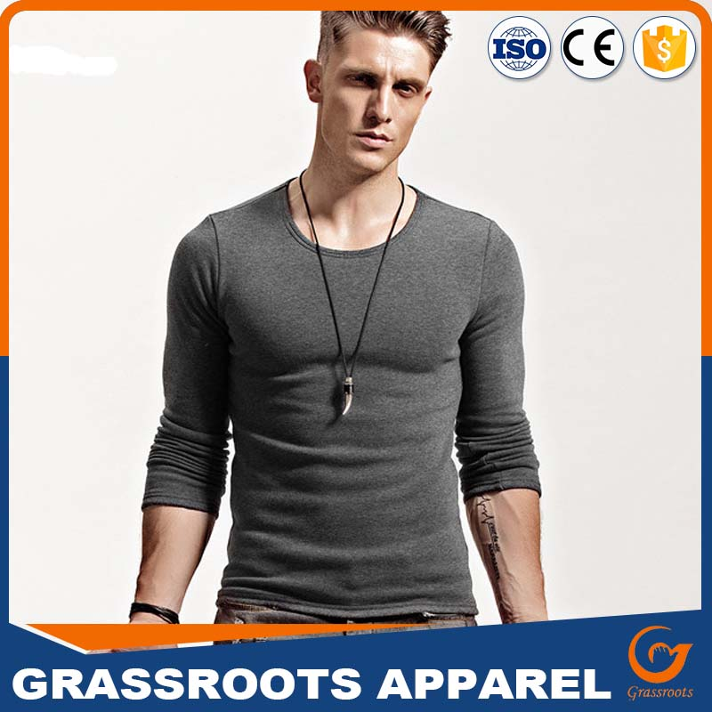 2017 Guangzhou Clothing Factory Wholesale Latest Shirts for Men Pictures Long Sleeve Blank T-shirts Design