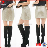 2014 Women Sequined Skirt Mini Skirt & Women beads skirts