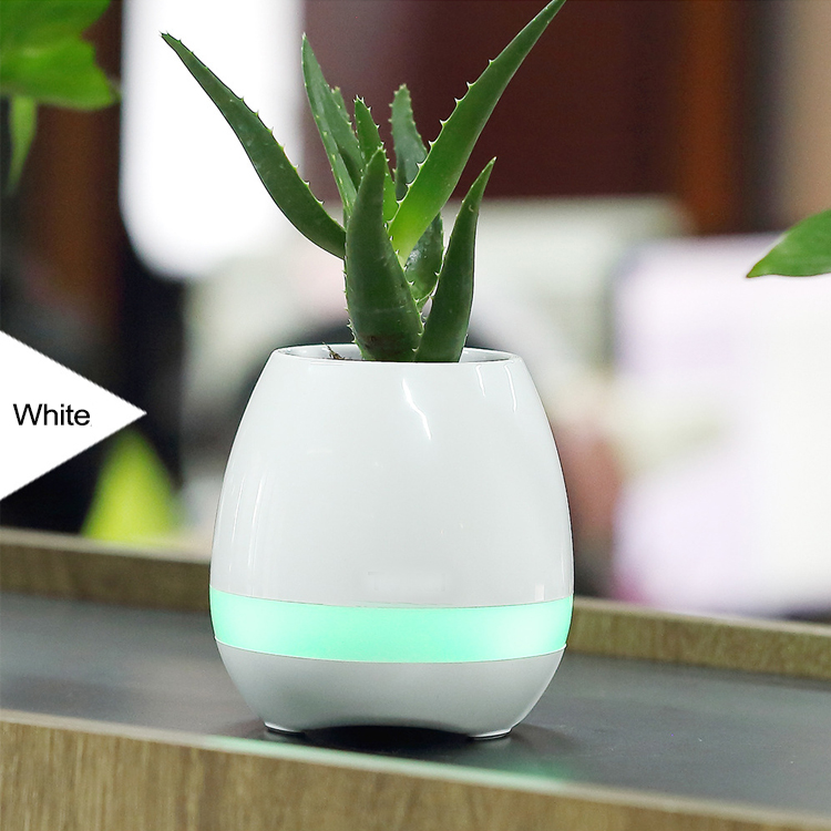 Best Smart Touch led Flower Pot with LED Wireless Bluetooth Speaker