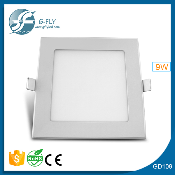 led light downlight Hot Sell Ultra thin Design 9W LED Ceiling Recessed Downlight / Slim Square Panel Light For Home Decoration