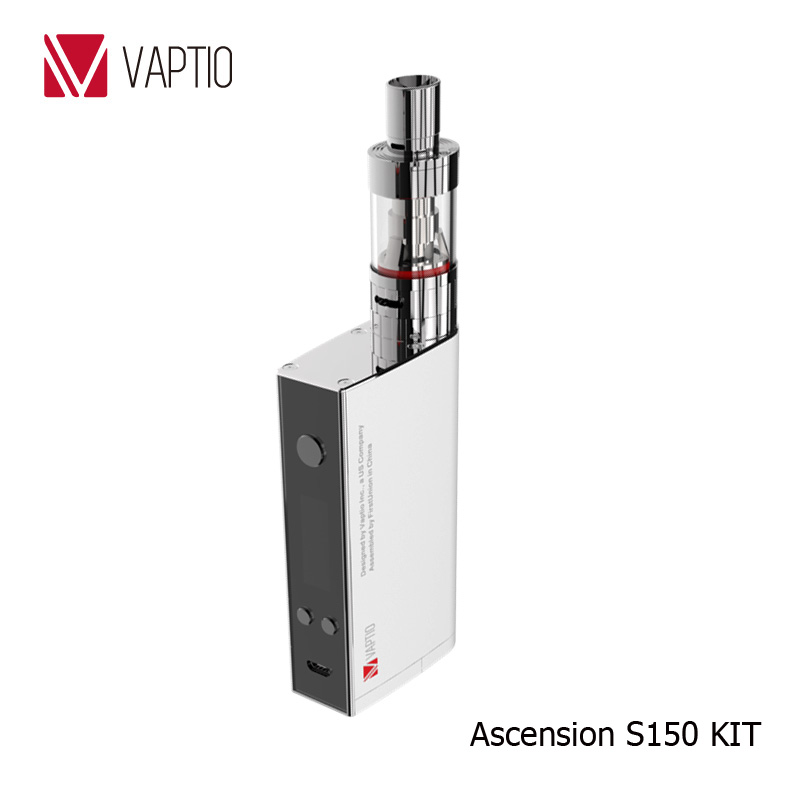 Vaptio cheap vaporizers 150w variable wattage mod Ascension S150 ATC/Ni200/Ti/SS316L temperature control vaporizer smoking