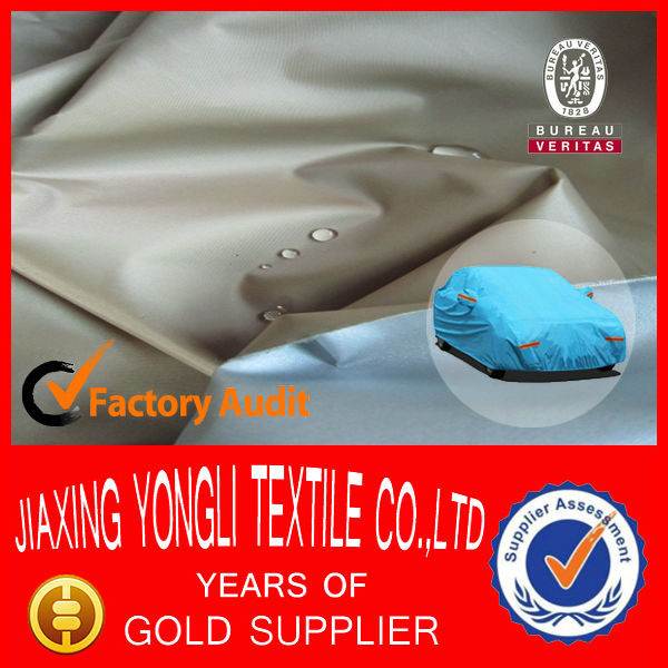 Waterproof Silver Coated Car Cover Fabric