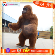 2016 Hot Sale Simulation Hairy Animatronic Animal Gorilla Model